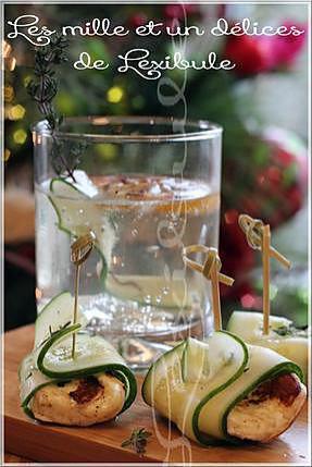 recette ~Gin pétillant au pamplemousse & bouchées de fromage grillé et de concombre~