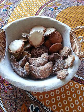 recette Corbeille de petits biscuits de Noël variés
