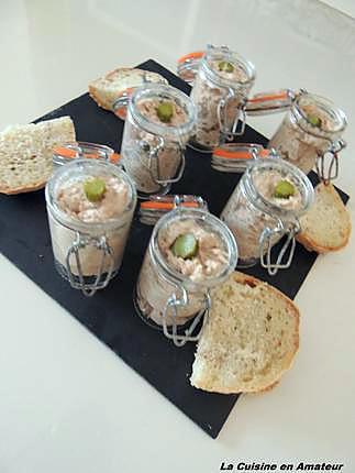 recette Verrine thon mayonnaise et cornichon