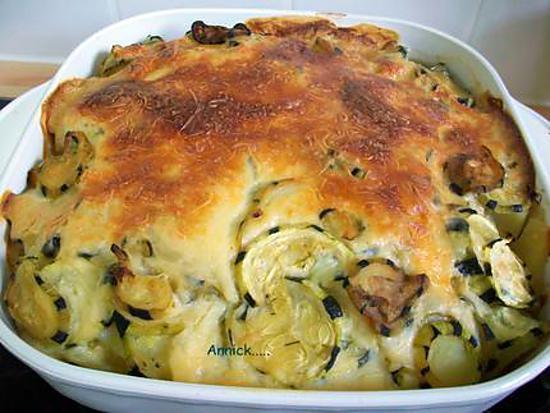 Recette de gratin pommes de terre courgettes - Recette de pomme de terre en gratin ...