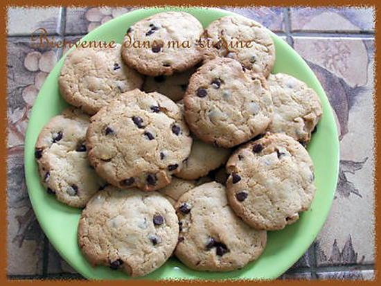 recette Cookies au beurre de cacahouète