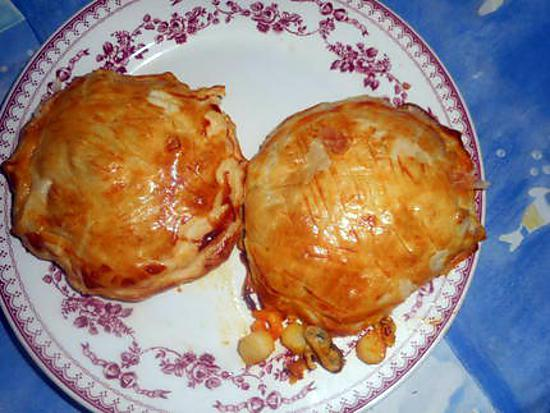 recette Feuilletés aux fruits de mer safranés