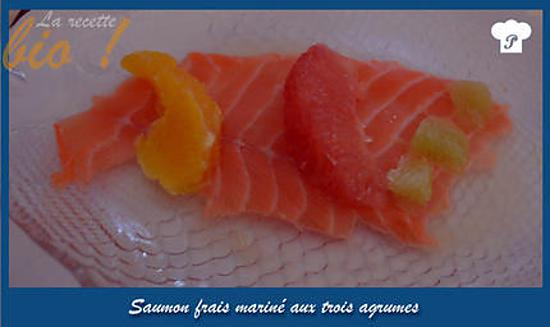 recette Saumon frais mariné aux trois agrumes.