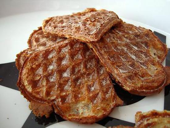 recette Gaufres au son de blé et farine complète - Minceur