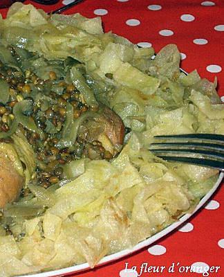 recette Rfissa au poulet
