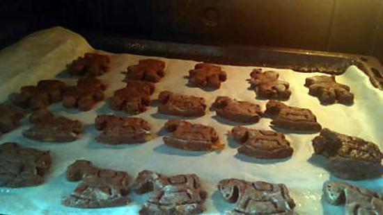 recette Sablé au cacao fait par notre fille