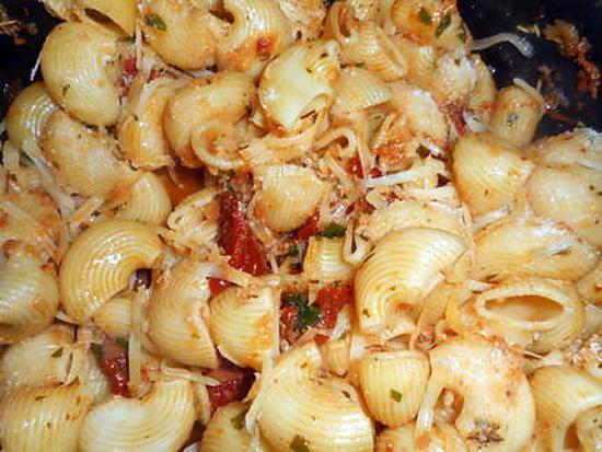 recette Pipe rigate sauce aux tomates séchées