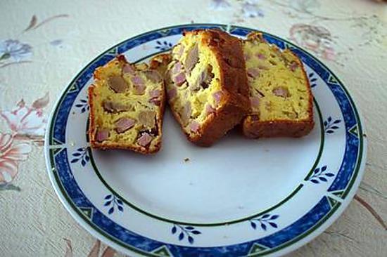 recette Cake au jambon, champignons et fromage