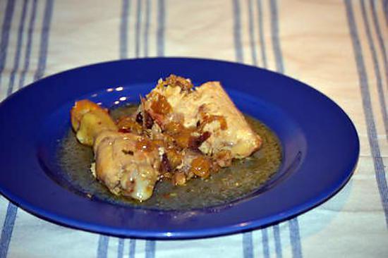 recette Poulet a la mangue et ciboulette