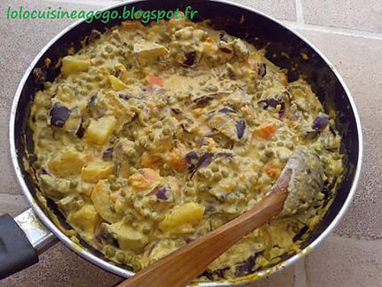 recette Ragoût végétarien de légumes d'automne au curry