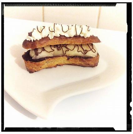 recette croc - éclaire banane- chocolat