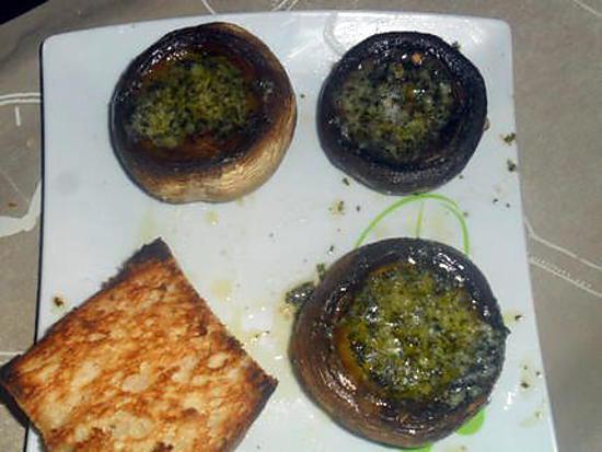 recette champignons farçis