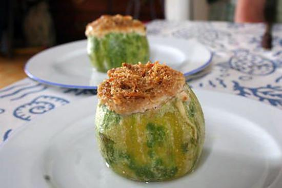 recette de les courgettes farcies la ricotta et noix. Black Bedroom Furniture Sets. Home Design Ideas