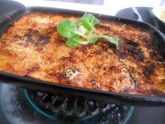 recette Gratin dauphinois a la sauce tomate parmesan