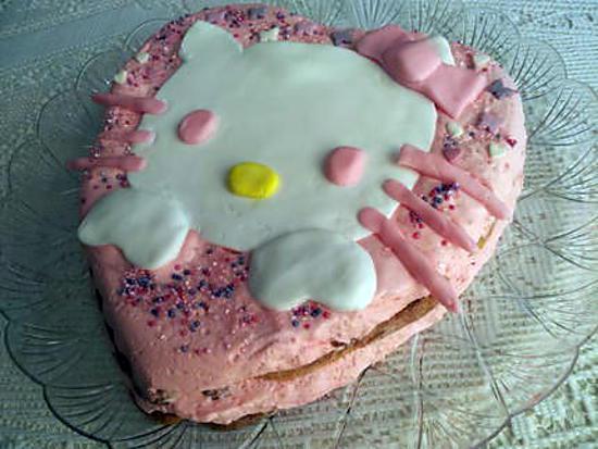 recette Gâteau d'anniversaire Hello Kitty