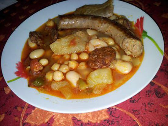 Recette de cassoulet espagnol - Recette de cuisine en espagnol ...