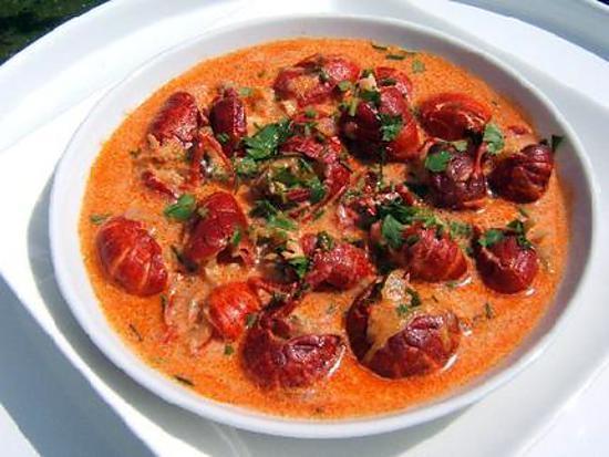 Recette d 39 ecrevisses la cr me et au marc de bourgogne - Cuisiner les escargots de bourgogne ...