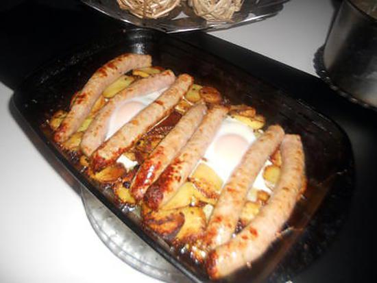 recette Saucisse au pommes de terre et au oeufs