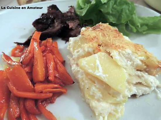 recette Gratin de pommes de terre et ail confit