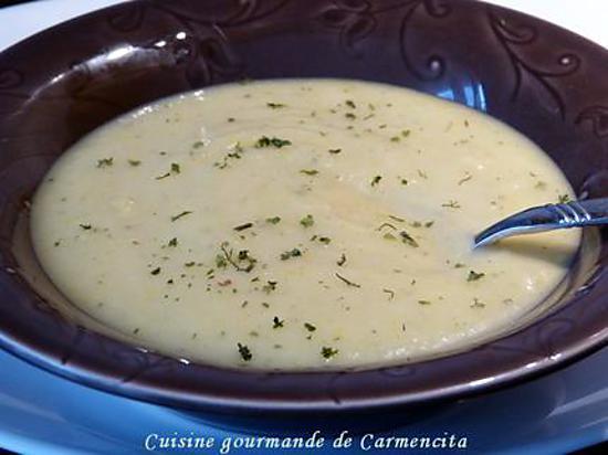 recette Soupe de chou fleur et courgette