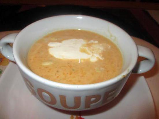 recette potage courge butternut gingembre;  curry,   lait de coco