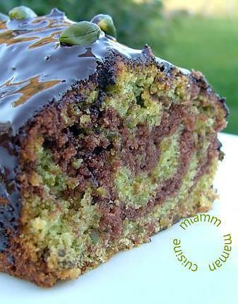 recette Marbré choco pistaches, glacé au chocolat