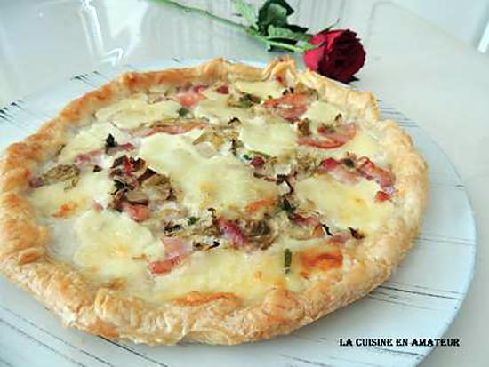 recette de tarte endive et mozzarella. Black Bedroom Furniture Sets. Home Design Ideas