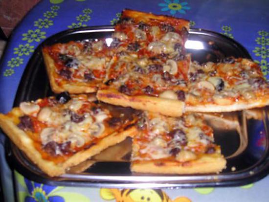 recette pizzza au champignon et viande hachée