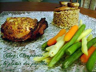 recette ~Tournedos de poulet, marinade au sirop d'érable, jus d'orange et basilic~