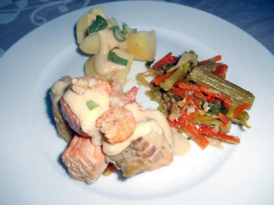 recette Waterzoï de poissons et crevettes