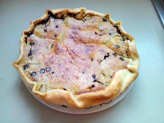 recette tarte aux poires et pepites de chocolat