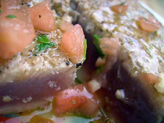 recette Thon à la Plancha et sa Marinade (Grillade ou BBQ)