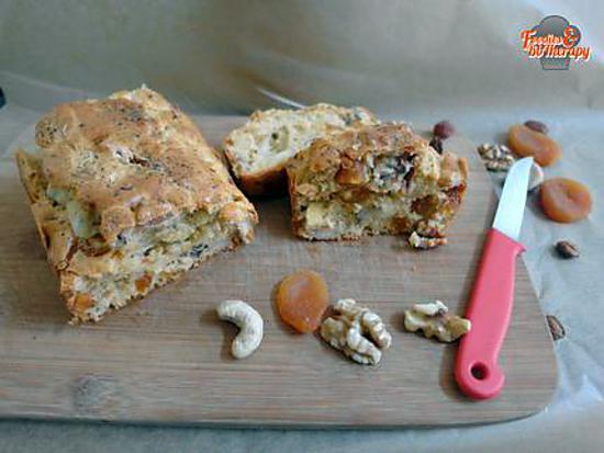 recette Cake aux abricots secs et noix/noix de cajou