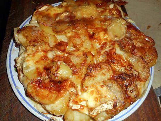 recette Gateau de pommes de terre au chaource et émmental