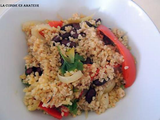 recette Boulgour poivron et haricots rouges