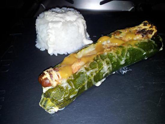recette Hot dog de courgettes à la créme