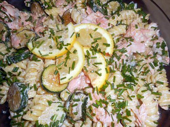 recette Fusillis au saumon