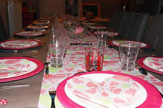 recette Déco de table (thème les coeurs roses)