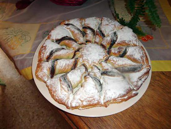 recette de tarte soleil au nutella et amandes