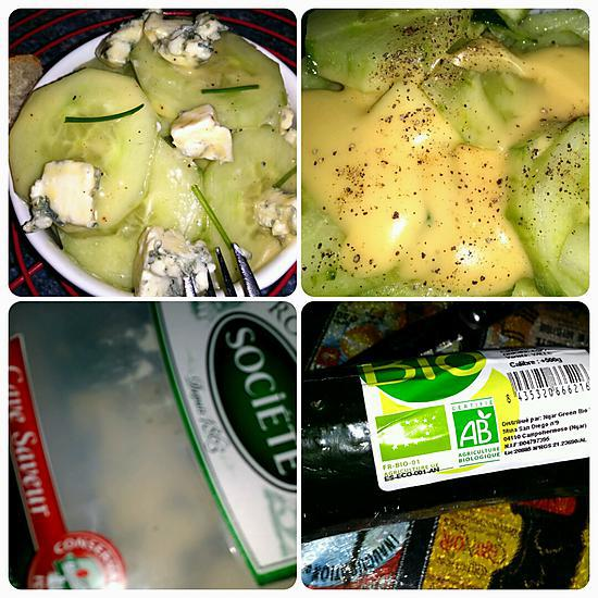 recette Salade de concombre au roquefort