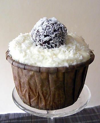 recette Cupcakes coco-pralin, truffes choco-coco