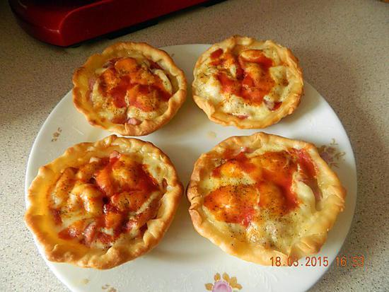 recette Tartelettes tomates lardons mozza