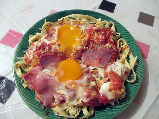 recette oeufs tomates et lard selon rosinette
