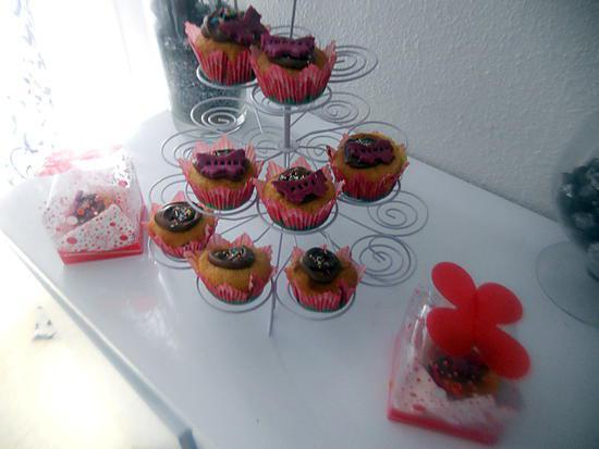recette de cupcake citron coeur au nutella gla age au chocolat papillons. Black Bedroom Furniture Sets. Home Design Ideas
