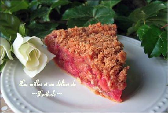 recette de tarte crumble aux framboises et rhubarbe. Black Bedroom Furniture Sets. Home Design Ideas