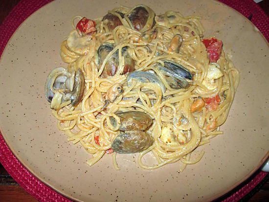 recette de spaghetti aux palourdes