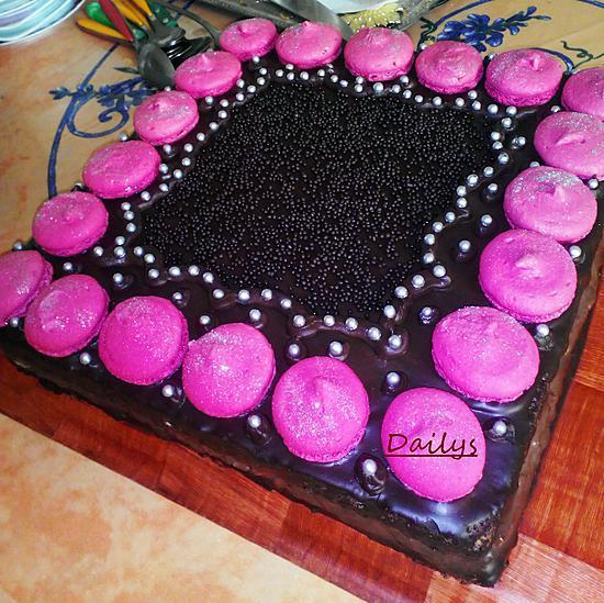recette Gâteau Girly Au Chocolat Framboise Et Macaron