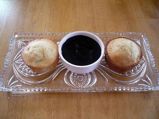 recette Muffins fourrés confiture de mûres