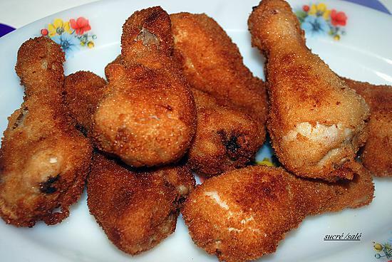 recette pilons de poulet frits
