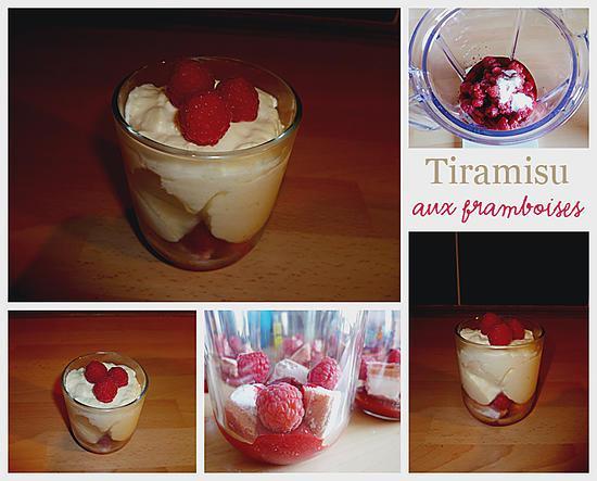 recette Tiramisu aux framboises